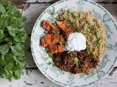 Mexican Salmon, Lentil and Quinoa Bowl - Madeleine Shaw
