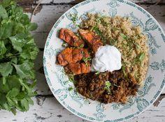 Mexican Salmon, Lentil and Quinoa Bowl - Madeleine Shaw