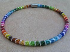 """lustige Regenbogenkette """"Frühling"""" von Steffis Perlenketten auf DaWanda.com"""