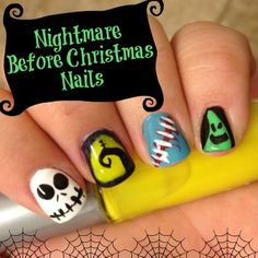 Girly Fun: Paint Nightmare Before Christmas Inspired Nail Art