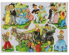 Vintage Die-cut Wedding Scraps Little Children EAS Germany Childhood Toys, Childhood Memories, Old Toys, Die Cutting, Retro, Vintage Children, Paper Dolls, Old Things, Scrap