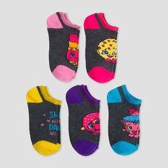 Girls' Shopkins Low Cut Socks - Grey
