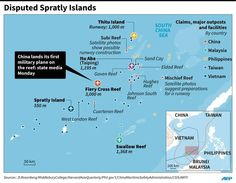 China claims nearly all of the strategically vital South China Sea, including Yongshu or Fiery Cross Reef