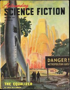 Astounding Science Fiction Vol. 39, No. 1 (March, 1947). Cover Art by Hubert Rogers | by lhboudreau