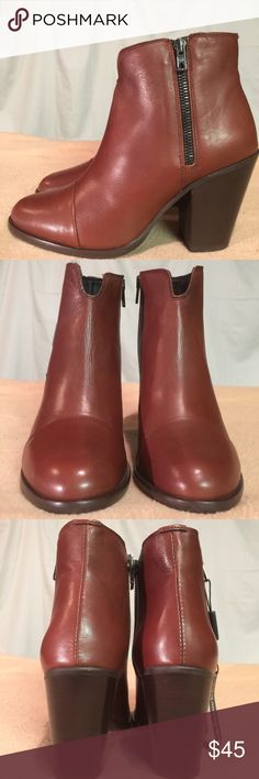 New (Handcrafted In Italy) Brown Leather Boots These Ankle/heeled boots are Brand New/Never Worn and are in PERFECT CONDITION. They were made in Italy. The heel height of this boot is 4 inches tall. Made in Italy Shoes Ankle Boots & Booties