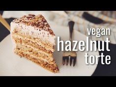 (68) VEGAN HAZELNUT TORTE | hot for food - YouTube