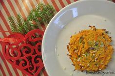 FOODIE-VAUVA: Tonttusen porkkana-bataattiröstit, 6 kk+ // Onni Blogien joulukalenteri, luukku 17 Grains, Rice, Food, Meal, Hoods, Seeds, Laughter, Eten, Korn