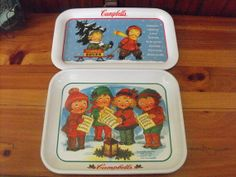 Vintage Campbell Soup Kids and Sled and Campbell by peacenluv72, $32.50