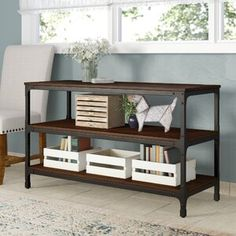 Shop Laurel Foundry Modern Farmhouse Living Room at Wayfair for a vast selection and the best prices online. 3 Piece Coffee Table Set, Solid Wood Coffee Table, Cool Coffee Tables, Coffee Table With Storage, Neutral Sofa, Wood Tray, Elegant Homes, How To Distress Wood, Wood And Metal