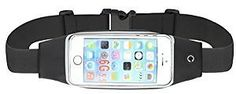 Ilooper Reflective Sweatproof Running Belt Waist Pack With Touch Screen For Iphone 6 6S 6 Plus 6S Plus Samsung Galaxy S5 S6 S7 Edge Note 3 4 5 Black : Sports & Outdoors