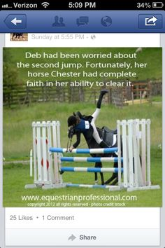 LOL I love it when my horse like to give me confidence boosters like this!