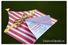10 Carnival Birthday Circus Tent Invitations by palmbeachpolkadots