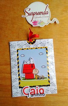 Convite Persiana Snoopy Impresso em papel glossy 230 Alta resolução Tags em relevo Medidas Largura: 13cm Altura: 16cm