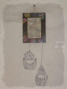 Cadre recette cupcake  fil de fer par latelierdesof sur Etsy