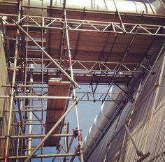 Scaffolding Scaffolding, Carpentry, Utility Pole, Studio, Film, Architecture, Movie, Arquitetura, Woodworking