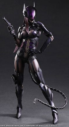 Nothing to do with Batman but it reminds me of a female Arkham Knight