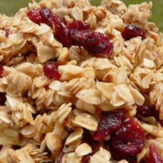 best stovetop granola!! i use an extra cups of oats and sub toasted pecans for the almonds and use extra nuts and fruti and also add vanilla...it's delicious. make sure you cook long enough at the end to get a great crunch.