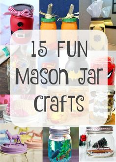 EASY crafts using mason jars that kids can do. Inexpensive gift ideas for Teachers and fun crafts for kids using mason jars.