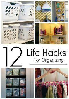 12 life hacks for organizing #organizinghacks #organisinghacks