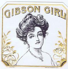 Gibson Girl Cigar Box