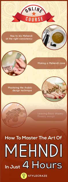 Looking for a New Hobby? Our Mehndi Course will definitely be of interest to you.