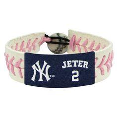 Derek Jeter/ New York Yankees Pink Jersey Bracelet