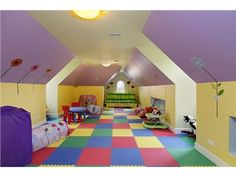 Great children's space made in a top floor/attic