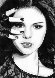 Selena Gomez Drawing by Yuka13   THIS IS INSANELY GOOD!