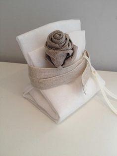 Bomboniere in tessuto e lino