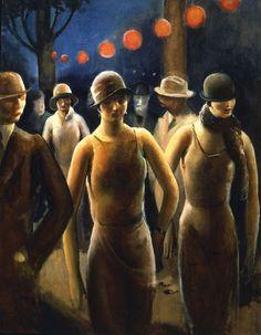 Guy Pene Du Bois, 1927 (1884 - 1958) http://beverleyshiller.tumblr.com/post/19234815854/ymutate-guy-pene-du-bois-1884-1958-born-in