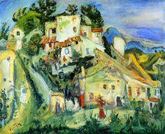 chaïm soutine(1894-1943), landscape of cagnes, c. 1924. oil on canvas, 53.7 x 64.8 cm. philadelphia museum of art