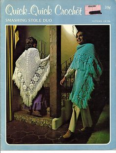 Quick Quick Crochet Smashing Stole Duo Pattern Book CR 796 by grammysyarngarden on Etsy
