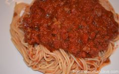 Meaty Spaghetti Sauce + Bubble-Up Garlic Bread
