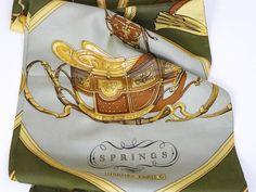 Authentic Vintage Hermes Silk Opera Scarf Springs RARE – Carre de Paris