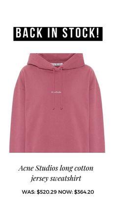 Studio Logo, Acne Studios, Hoodies, Cotton, Studio, Sweatshirts, Hoodie, Hooded Sweatshirts