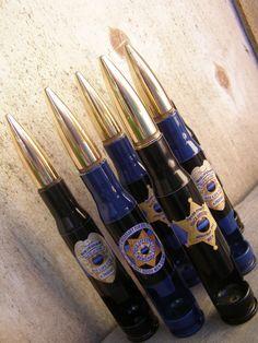 50 Caliber Bottle Opener  Police Officer Badge  by BottleBreacher, $20.00