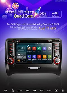 Special Offers - XTRONS Quad Core 7 Android 5.1 for AUDI TT MK2 GPS Mirror Link 2DIN Stereo Car Radio DVD OBD2 - In stock & Free Shipping. You can save more money! Check It (July 12 2016 at 08:58PM) >> http://cargpsusa.net/xtrons-quad-core-7-android-5-1-for-audi-tt-mk2-gps-mirror-link-2din-stereo-car-radio-dvd-obd2/