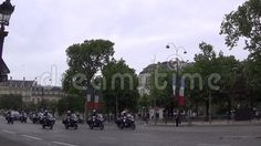 Video about The column with the president. The video is captured protecting the President of the French Republic. It was a holiday. Video of president, column, republic - 74691600