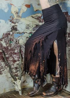 Sea Witch distressed skirt  Idea for bottom part of costume