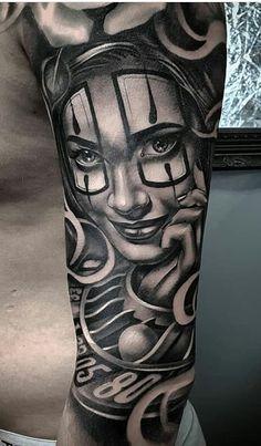 80 Tatuagens de Palhaço incríveis para você se inspirar - Fotos e Tatuagens Chicanas Tattoo, Clown Tattoo, Sick Tattoo, Top Tattoos, Cute Tattoos, Tattoos For Guys, Graffiti Tattoo, Chicano Tattoos Sleeve, Gangster Tattoos