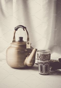 Rustic Teapot by huertas19 on creativemarket, Styled Stock Photos
