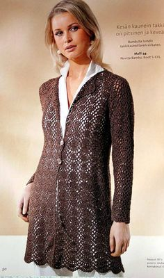Brown Jacket -  Crochet with diagrams