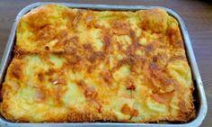Σουφλέ με φέτες ψωμί του τόστ ,πατάτα και τυρί!Φανταστικό!