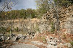 Millstone Bluff in Pope County, Illinois.