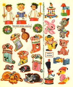 Christmas Paper Crafts, Vintage Christmas Cards, Retro Christmas, Vintage Cards, Christmas Decorations, The Night Before Christmas, Christmas Makes, Christmas Past, Winter Christmas