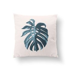 Monstera Leaf Pillow, Flower Illustration Pillow, Home Decor, Cushion Cover, Throw Pillow, Bedroom Decor,Bed Pillow, Decorative Pillow,. Every pillow is originally designed by us and handmade. Pillow is fully printed on 2 sides. The item cover + insert. SIZE: 16 x 16 inches. Every pillow finished with a zipper.