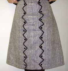 Sewing by the Seat of my Pants: VPLL #0200 Skirt with Scallops - Finished!
