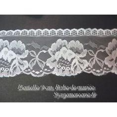dentelle en 9 cm, blancorationsche mariage,robe, customisations, dé