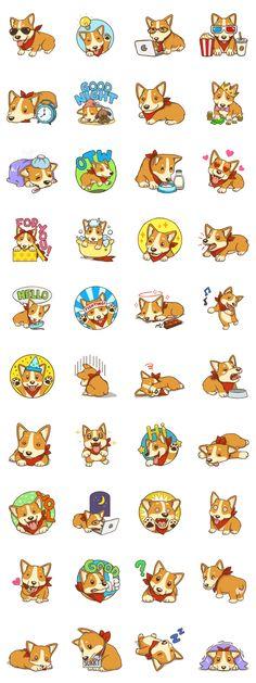 Cute Corgi - Adorable Life - LINE Creators' Stickers