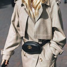 @the.hussell by @collagevintage2 @stellamccartney trench @gucci belt bag